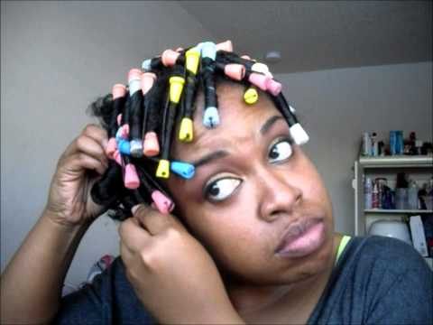 ... you how i create my perfect flat twist out i also use perm rods to