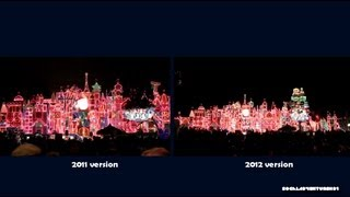 It's a Small World 2012 Vs. 2011 Holiday Projection Mini Show Side-by-Side - HD