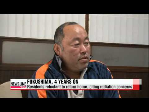 Four years after Fukushima disaster, residents reluctant to return home   일본 대지진