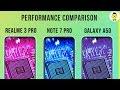 Realme 3 Pro vs Redmi Note 7 Pro vs Samsung Galaxy A50 performance, battery, and PUBG comparison