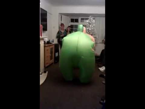 Christmas Funny Blow up suit Dance.......Gangnam Style!!