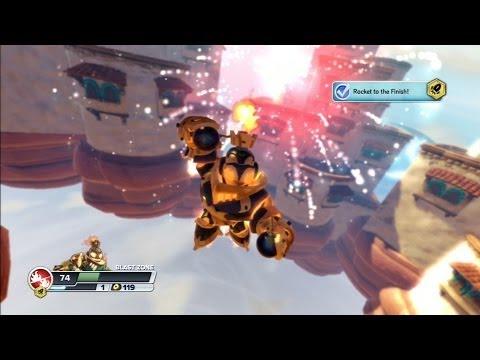 Skylanders SWAP Force - Rocket Swap Zone Gameplay (PS3)