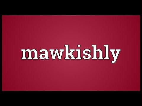 Header of mawkishly