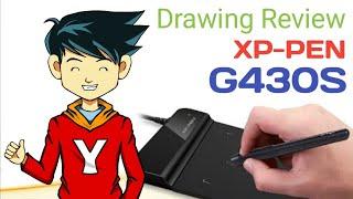 REVIEW PEN TABLET XP-PEN G430S   DRAWING REVIEW   DRAWING SUPER SAIYAN GOKU   DRAGONBALL SUPER