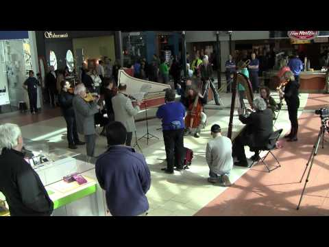 Flash Mob at Edmonton City Centre Mall. Pachelbel Canon in D on period instruments.