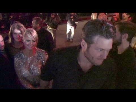 BLAKE SHELTON & MIRANDA LAMBERT at Grammy party