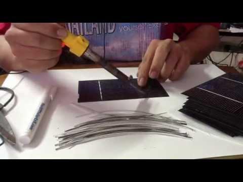 วิธีประกอบแผ่น solar cell