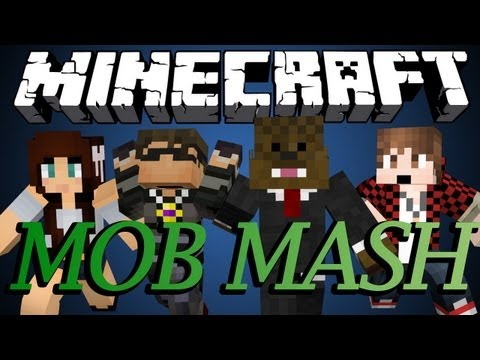 BRAND NEW Minecraft MOB MASH MINIGAME w SkyDoesMinecraft BajanCanadian and AshleyMariee