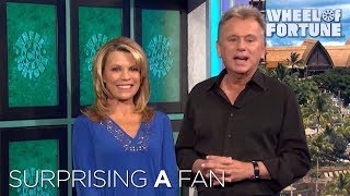 Pat & Vanna Surprise Terminally Ill Superfan | Wheel of Fortune