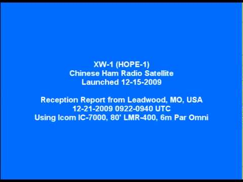 XW-1 Chinese Ham Radio Satellite Telemetry Reception Report