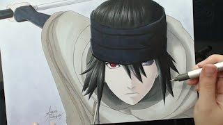 Speed Drawing  Uchiha Sasuke The Last  Naruto The
