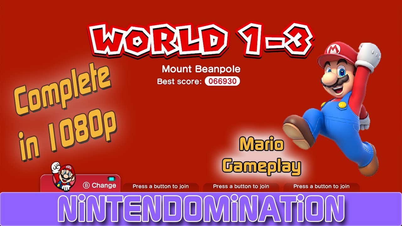 Super Mario 3D World Complete World 1 3 MARIO Gameplay 3D Yo
