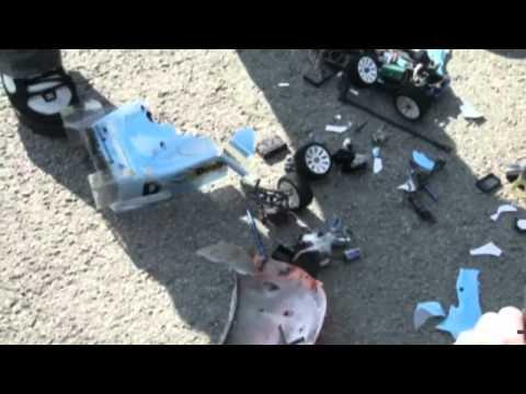 0 103 MPH Electric RC CAR CRASH Fastest MPH with AUDIO