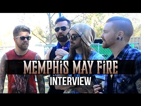 Memphis May Fire Interview | Aftershock 2014 | New Christmas Song? video
