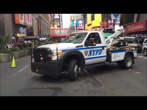 COMPILATION OF MANY DIFFERENT NYPD UNITS PATROLLING THE STREETS OF NEW YORK CITY - 08.