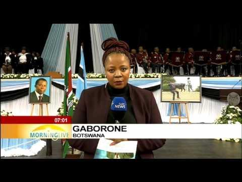 Dignitaries in Botswana for Sir Masire's send-off