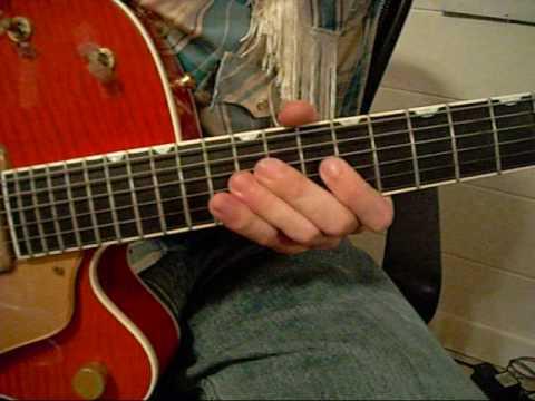 Rockabilly Guitar Lesson 5 (Johnny Burnette Trio guitar style)