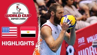 USA vs. EGYPT - Highlights | Men's Volleyball World Cup 2019