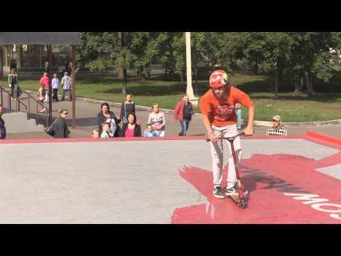20150906 Евгений Поздняков, kick scooter, МТС #WOWMOSCOW контест ВДНХ