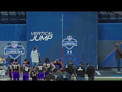 CB Byron Jones broad jump record at 2015 NFL scouting combine 12'3