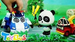 Something Wrong with Poli Police Car | Super Panda Rescue Team | BabyBus Toy Story | ToyBus
