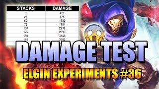 ALDOUS DAMAGE TEST - ELGIN EXPERIMENT #36 LET'S TEST HIS DAMAGE AT DIFFERENT STACKS