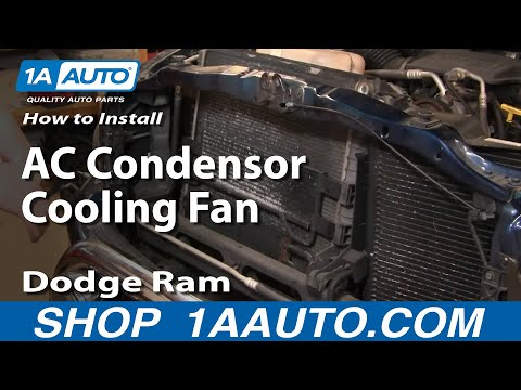 How To Install Repair Replace Part 1 AC Condensor Cooling Fan Dodge Ram 02-08 1A