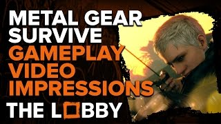 Metal Gear Survive Gameplay Video Impressions - The Lobby