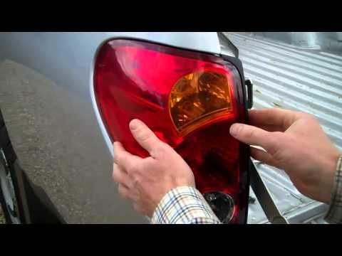 Замена задней фары и ламп Mitsubishi L200, видео