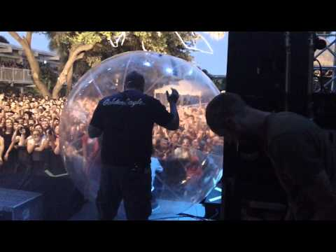 Jeremy Mckinnon crowd surfing in a bubble ball Jeremy Mckinnon Live Crowd