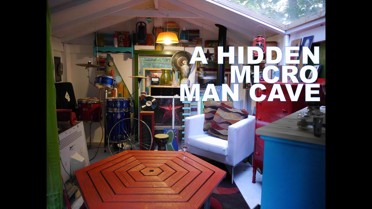Small Backyard Man Cave : Hidden Micro Man CaveCabin American Pickers Style! (Tiny House