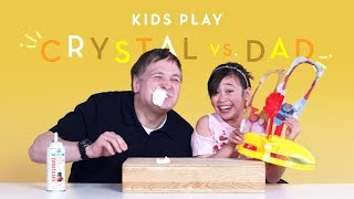 Crystal vs. Dad | Kids Play | HiHo Kids