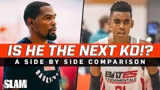 Is he the NEXT KD!? Emoni Bates & Kevin Durant side by side comparison 🔥