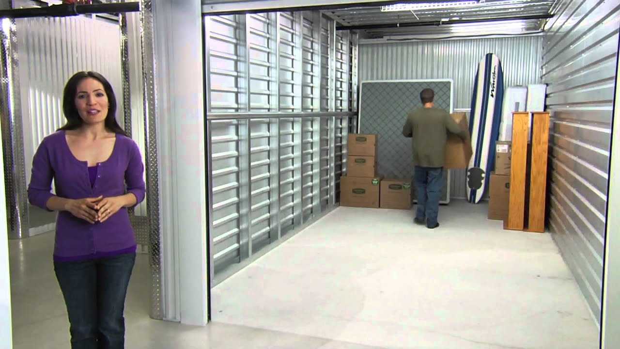 10x20 storage unit size guide youtube for What size tv do i need for a 12x15 room