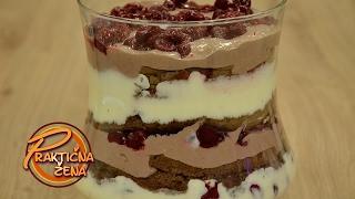 Praktična žena - Kremasti dezert sa višnjama i čokoladom