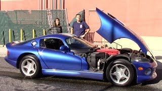 I Taught My Friend to Drive Stick Shift In My Dodge Viper (And Then It Broke Down)