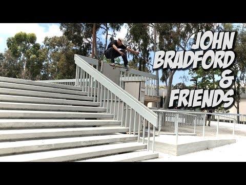 JOHN BRADFORD AND FRIENDS AMAZING SKATE DAY !!! - NKA VIDS -