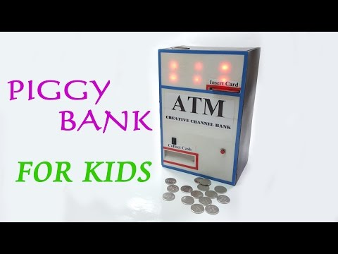 DIY - How To Make a ATM Piggy Bank Machine for Kids very Amazing