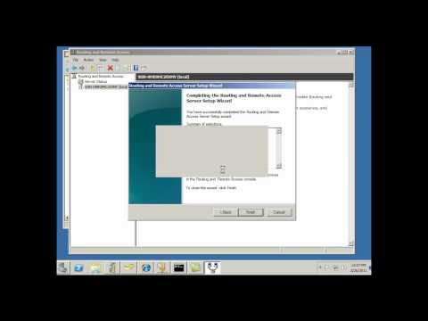 Install & Configure Remote Access Server for VPN in Server 2008 - Part 1