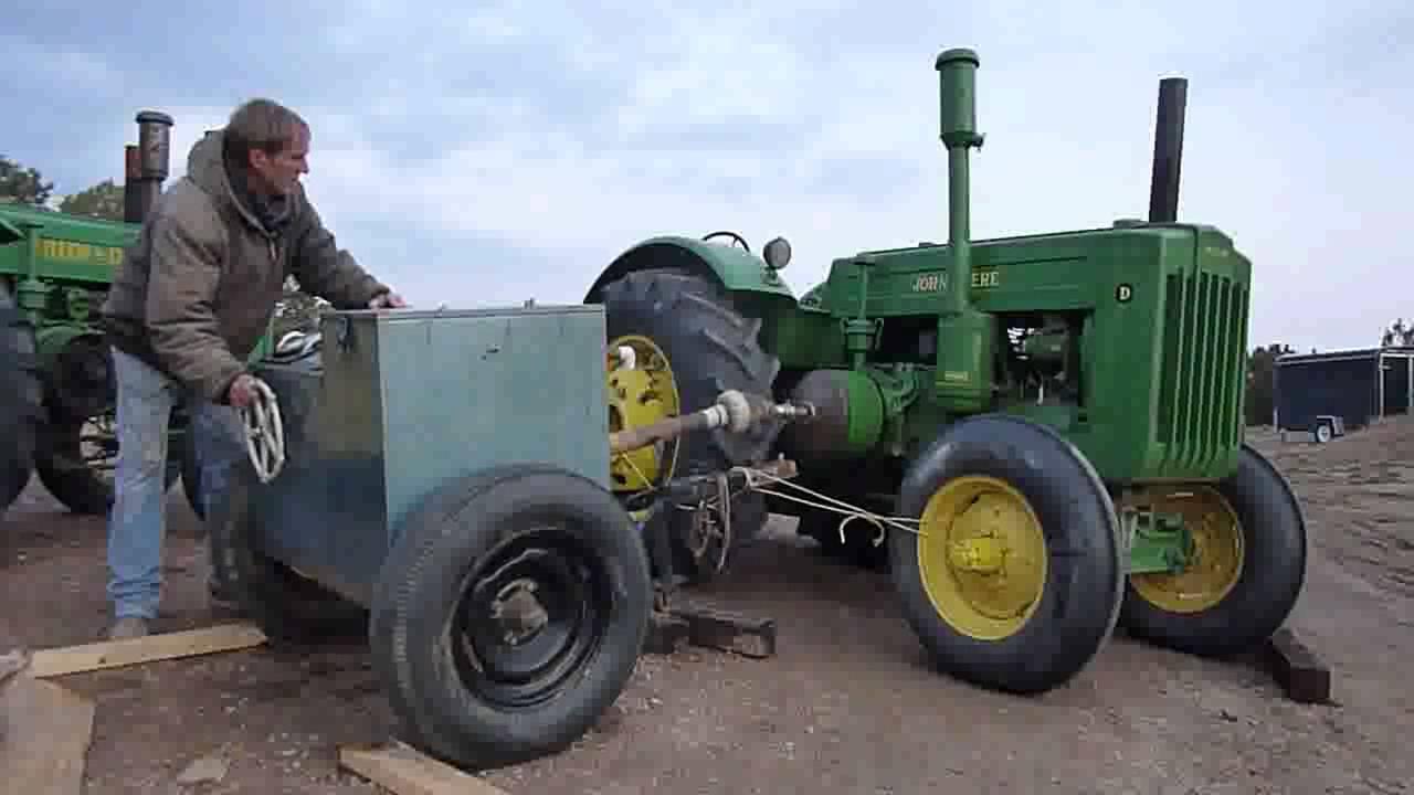 Tractor Pto Dynamometer : John deere d on a m w dynamometer youtube