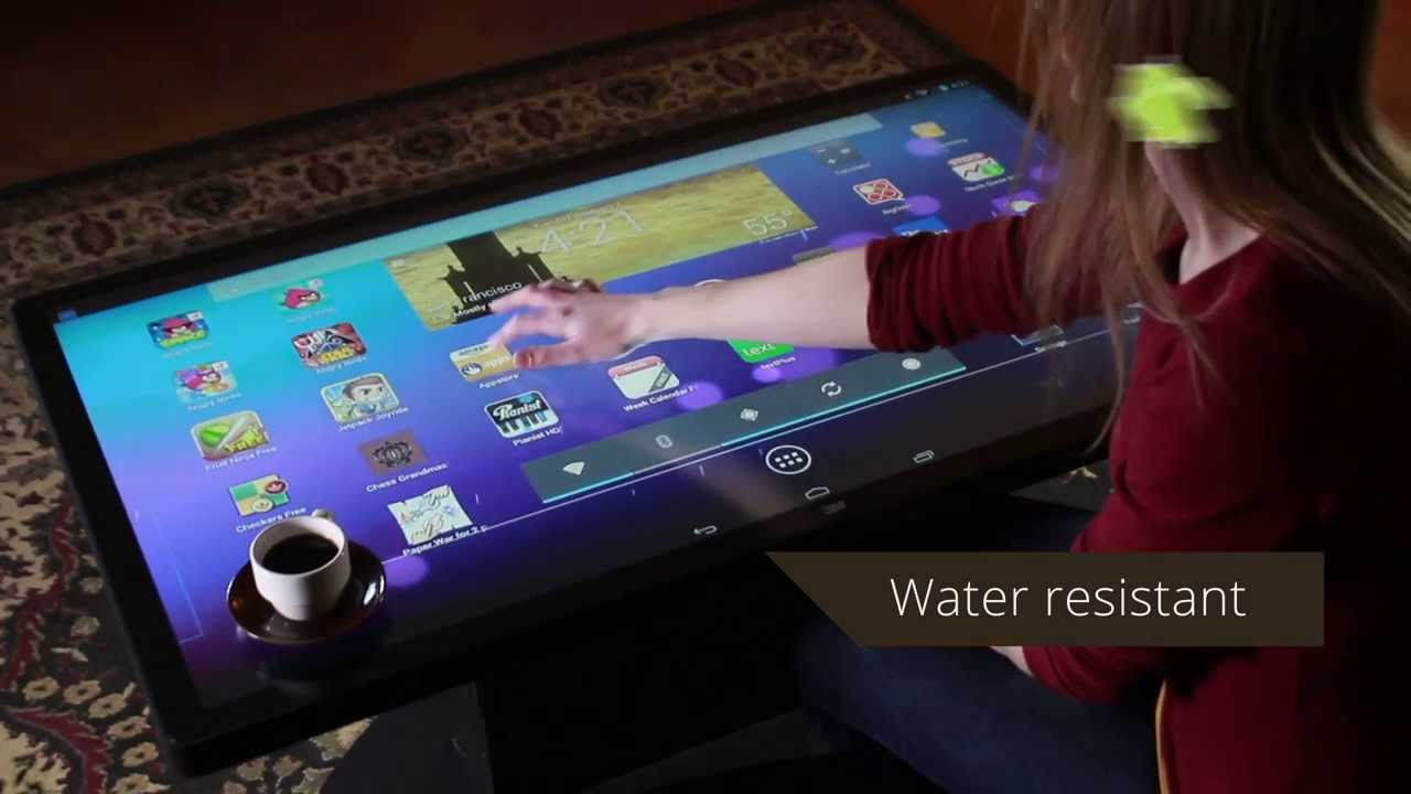 Multitouch Coffee Table With Android Youtube