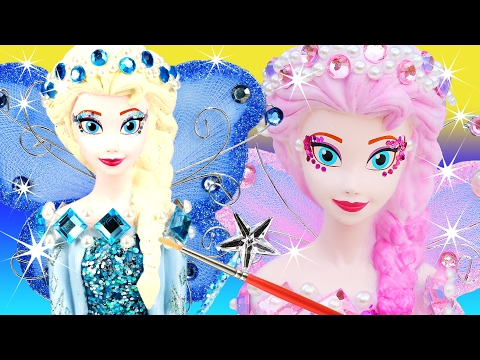 VOTE 2 FROZEN ELSA FAIRIES Blue or Pinkie Pearl CHOOSE YOUR FAVORITE Glitter Wings Paint Your Own