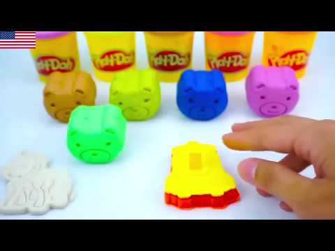 Learn Colors with Play Doh Lollipop and Cookie Molds Surprise Toys Kinder Eggs#6