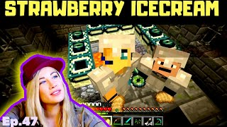 ♀♫ WE MADE IT!!! | Ep. 47 | Strawberry Icecream ♀♫ PSYCHO GiRL - Minecraft Roleplay