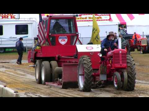 1952 Farmall Super C - Antique Tractor Pull Deerfield Fair NH 2012  Video # 11