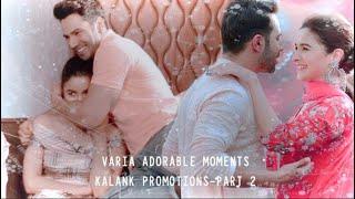 彡Varia adorable moments from Kalank promotions | Part 2 | Varia VM | Kalank