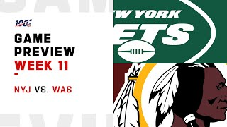 New York Jets vs Washington Redskins Week 11 NFL Game Preview