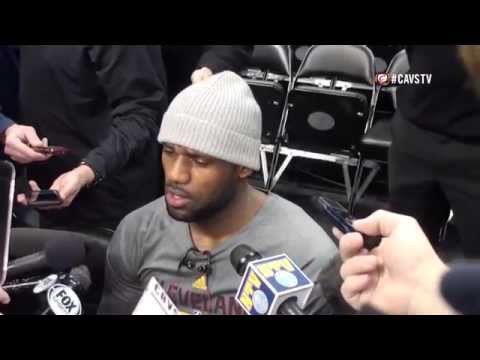 LeBron James Interview at Shootaround vs Denver Nuggets - NBA 2014-15 Season