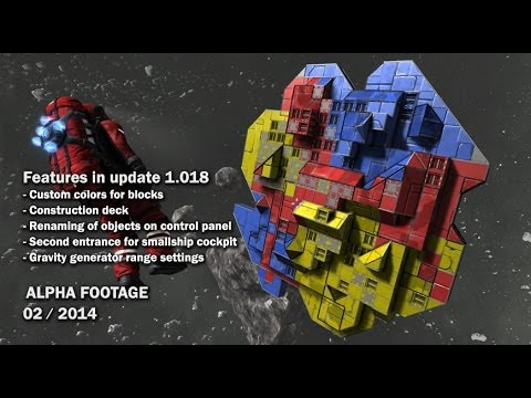 Space Engineers - Custom colors, Gravity generator range settings, Construction deck
