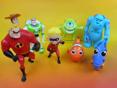 2005 McDONALD'S DISNEY PIXAR PALS SET OF 8